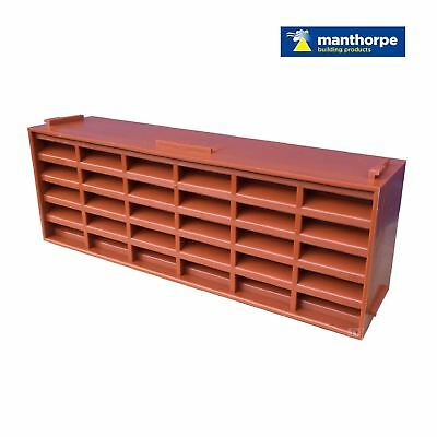 "20 x Terracotta Interlocking Air Brick Vents 9"" x 3"" Grille Air Flow Ventilation"