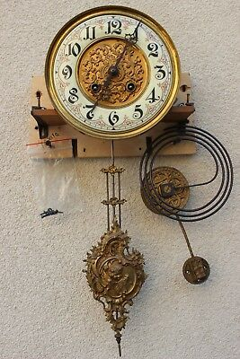Complete Gustav Becker  wall clock movement at 1900
