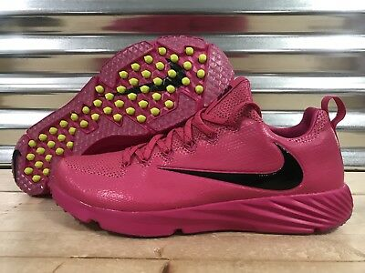 Nike Vapor Speed Lacrosse LAX Turf Trainer Shoes BCA Pink Cancer SZ (884799-606)