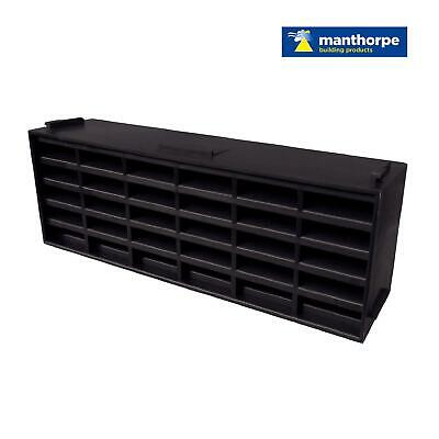 "10 x Blue/Black Interlocking Air Brick Vents 9"" x 3"" Grille Air Flow Ventilation"