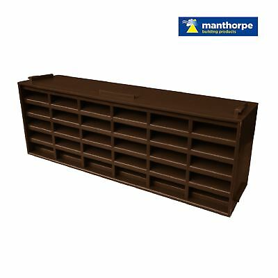 "20 x Brown Interlocking Air Brick Vents 9"" x 3"" Grille for Air Flow Ventilation"