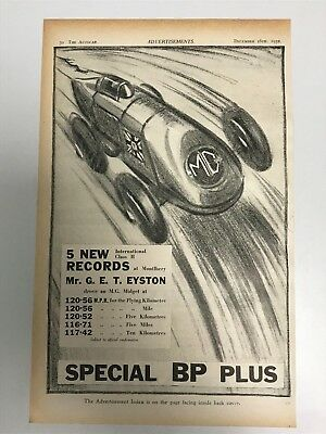 VERY RARE 1932 MG (Special BP Plus / G E T Eyston) Old Car Advert L46