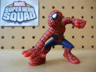 Marvel Super Hero Squad SPIDER-MAN Crouch w Fist Raised Comic Style Silver Lines