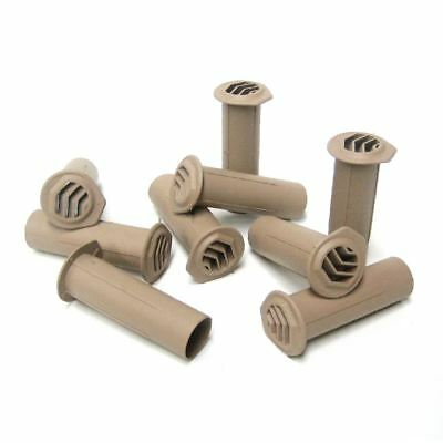 5 x Buff Drill Weep Vents Round Vent Cavity, Retaining Wall, Rendered Walls