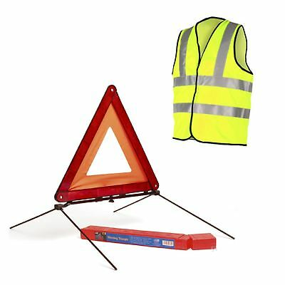 Reflective Warning Triangle Sign & Safety Vest /  Car Hazard  EU Emergency