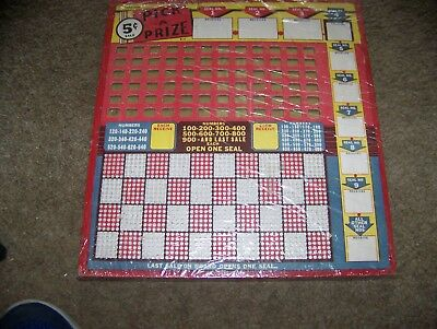 Vintage 5 cent Pick A Prize Punch Board