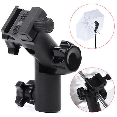 for DSLR Type E Flash Hot Shoe Umbrella Holder Swivel Bracket Mount Light Stand