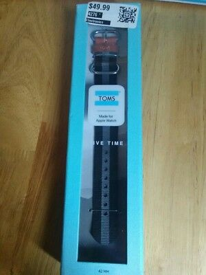 toms apple watch band 42 mm.