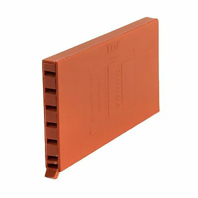 50 x Terracotta Brick Weep Vents, Ventilation Cavity Walls Retaining Garden Wall