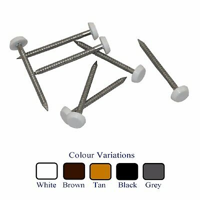 Stainless Steel UPVC Poly Top Pins Nails Plastic Headed  Colour & Size Options
