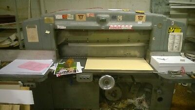 """52"""" Lawson Paper Cutter, working condition, extra knives"""