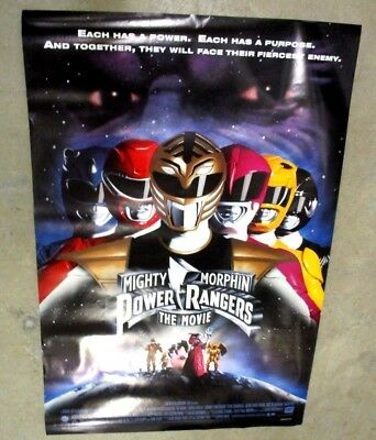 MIGHTY MORPHIN POWER RANGERS THE MOVIE 1995 ONE SHEET POSTER Style D 2 SIDED