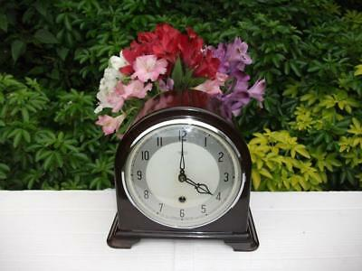 Smiths Enfield Bakelite Timepiece (Time Only) Mantel Clock 1950 Fully Overhauled