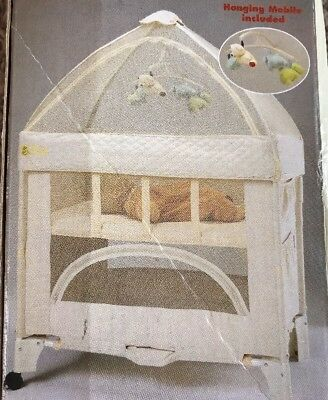 Umbrella Canopy/Mobile For Mini Arms Reach Co-Sleeper Bedside Bassinet Natural