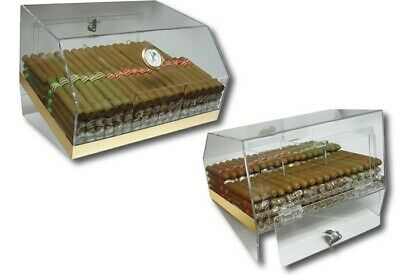 Laurence Acrylic Cigar Humidor Counter Display - by Prestige Import Group