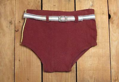 Vintage 1930s Boys Wool & Cotton Knit Swimsuit Bathing Suit Antique Board Shorts