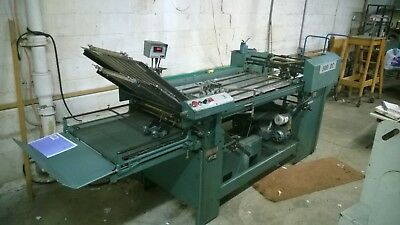 Baum folder, 23x35, new combo rollers in 1st unit, 2nd and 3rd rollaway units