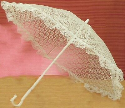 "15"" Lace Parasol for Umbrella for Bridal Wedding"