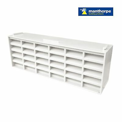 "10 x White Interlocking Air Brick Vents 9"" x 3"" Grille for Air Flow Ventilation"
