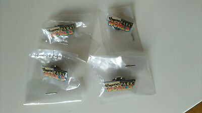 4x Theme Park World Pin / Anstecker - Electronic Arts  -NEU in Folie-
