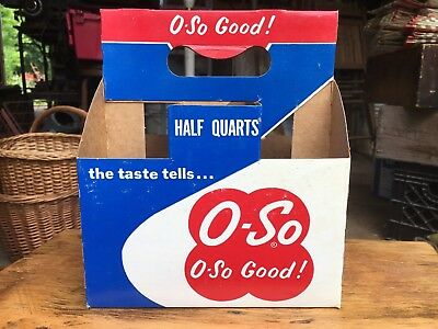 Vintage O-So Grape & Canada Dry Holiday Pak Cardboard 6 pac Nice color Some Wear