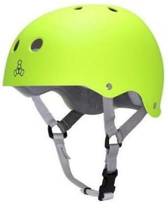 NEW Triple 8 Brainsaver Helmet Zest Fluro Gloss W/Grey