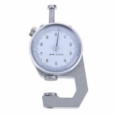 0 to 10mm Range Measuring Tool 0.1mm Resolution Round Dial Thickness Gauge N5A7