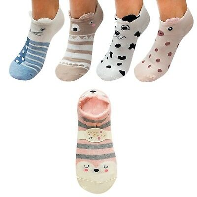 Fancy high quality ankle high socks with cute animal print