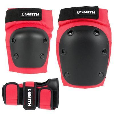 NEW Smith Scabs Tri Pack Adult (knee, elbow, wrist) Red