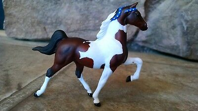 Custom Breyer Stablemate G1 Bay Tobiano Pinto Saddlebred