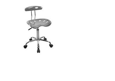 Alphason operators chair in silver and chrome.