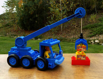 Bob the Builder LEGO DUPLO LOFTY Mobile Crane Toy & Duplo Bob Builder Figure!!