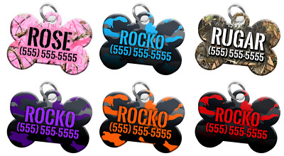 Dog ID Tag for Pets [Multiple Colors] Camo Design: Personalized For Your Pet!