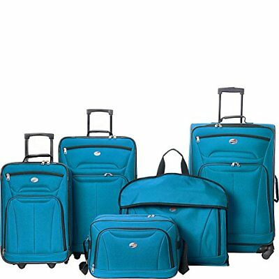 American Tourister Wakefield 5 Piece Luggage Set - eBags Exclusive Teal Blue