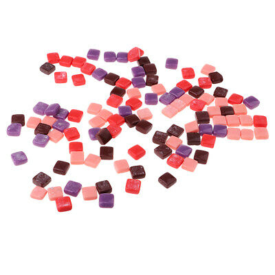 110x Square Glass Mosaic Tiles for Mosaic Making Kids DIY Crafts Multicolor