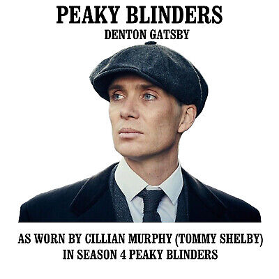 Genuine Peaky Blinders Newsboy Cap 100% Wool Dentons Gatsby Grey Blue Brown Hat