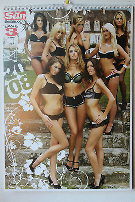 The Sun Page 3 2008 Topless Collectors Calendar  - RARE COLLECTORS (NEW! MINT!)