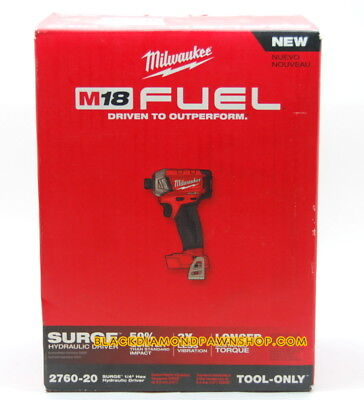 MILWAUKEE 2760-20 M18 FUEL SURGE 1/4 In. Hex Hydraulic Impact Driver