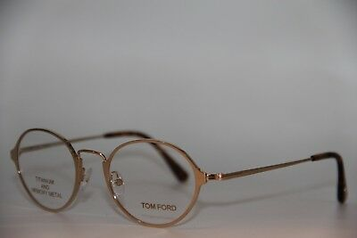 8126522d17256 NEW TOM FORD Ft 5350 028 Gold Eyeglasses Authentic Rx Ft5350 48-20 W ...