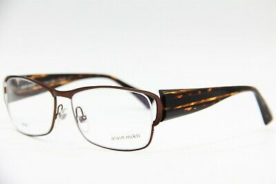 9e9ed8df89 New Alain Mikli Al 0869 0004 Brown Eyeglasses Authentic Rx Al0869 59-18 W