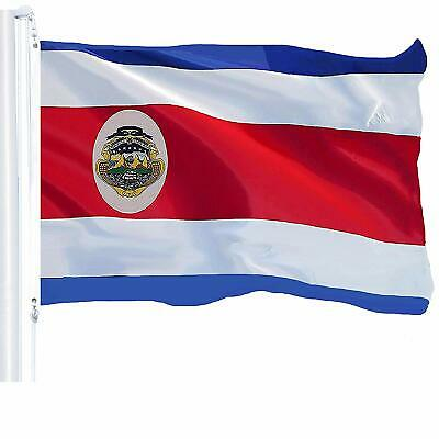 G128 - 3x5ft Costa Rica flag Rican Banner Grommets 150D Polyester brass Grommets
