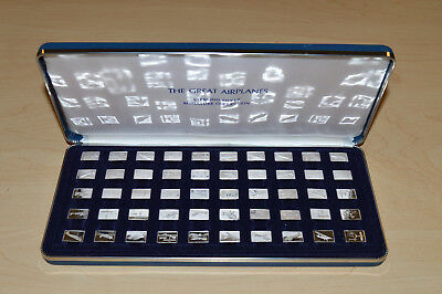 Franklin Mint:The 50 Great Airplanes Sterling Silver Ingot Miniature Collection