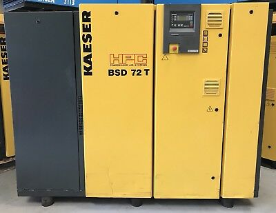 HPC / Kaeser BSD72T Rotary Screw Compressor, 37kW! 247Cfm! With Dryer! Serviced!