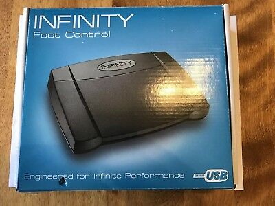 INFINITY Foot Control IN-USB-2 - USB Transcription Foot Pedal