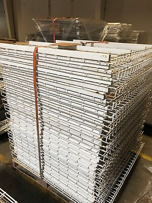 """Pallet Rack Wire Mesh Deck 47"""" x 44.5"""" White, 31 Available, Used"""