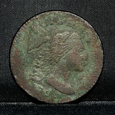 1795 Large Cent ✪ Xf Extra Fine ✪ 1C Flowing Hair Details L@@k Now M28 ◢Trusted◣