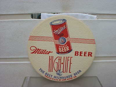 """Miller High Life OI beer can 4"""" coaster  Milwaukee Wi"""