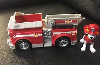 paw patrol marshall fire truck rescue figure and vehicle kids toys