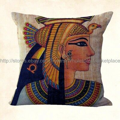 US SELLER, Ancient Egyptian Queen Cleopatra cushion covers for couch pillows
