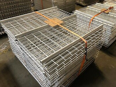 """Pallet Rack Wire Mesh Deck 47.5"""" x 44 3/8"""" White, 17 Available, Used"""